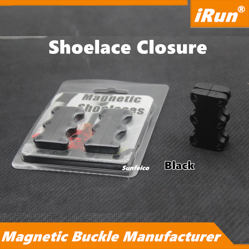 Securely Attached and Neatly Stashed No Bow Anymore Black Magnetic Buckles Clamps Bucks - Never Loose Shoes - Accept Custom
