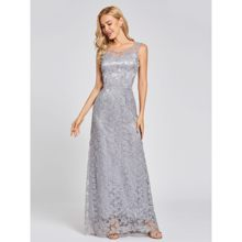 Длинное вечернее платье с открытой спиной Dressv, недорогое кружевное платье с глубоким вырезом и блестками для свадебной вечеринки(China)