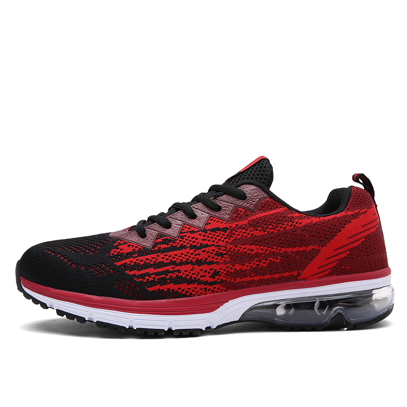 Wholesale 2017 Newest Comfortable Soft Fly Knit Upper Shock Cushion Outsole Casual Couples Running Shoes Men