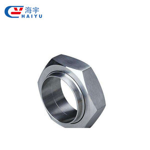SS316 DIN Hexagonal sanitary nut union