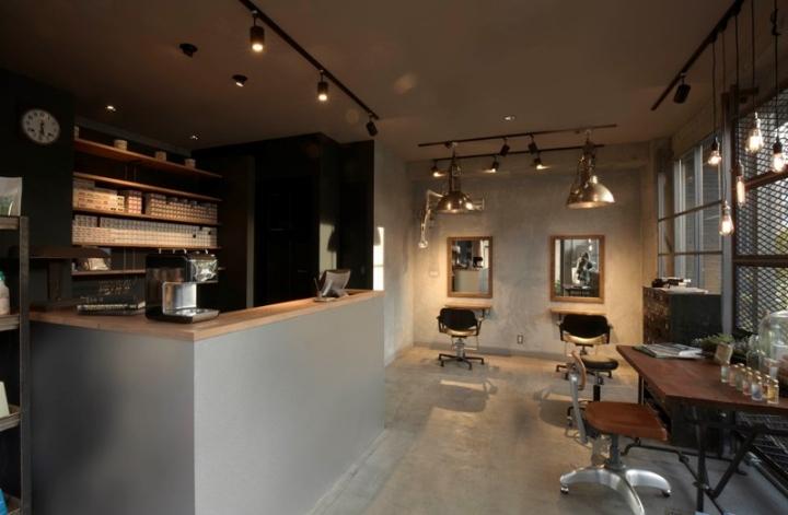 Hair Salon Design Wooden Reception Desk Hair Dressing Chair And ...