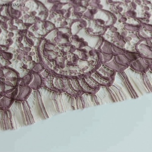 Professional supplier custom beautiful embroidery mesh lace fabric/water soluble african chemical lace