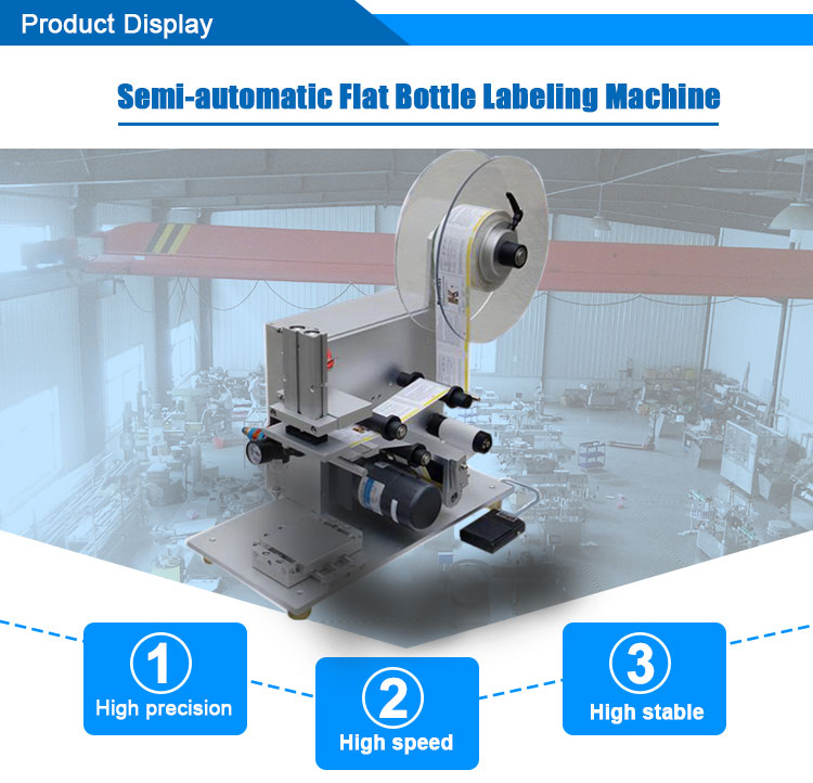 Mini Labeler For Bottle / Semi Automatic Flat Labeling Machine