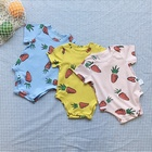 China custom summer cotton plain cute newborn kids clothing jumpsuit baby wear clothes toddlers boy romper suit set