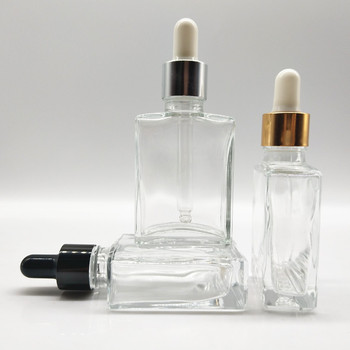 Wholesale 30ml Square Glass Dropper Bottles With Glass Pipette For E Juice  E Liquid - Buy 30ml Clear Square Glass Bottle,Clear Square Glass