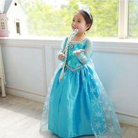 Latest Hot Sale Gambar Frozen Elsa Dress Children Girl Costumes SE068
