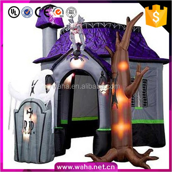 High quality Halloween decoration inflatable haunted house for sale