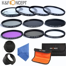 ND2 ND4 ND8 Lens Filter 58mm+UV CPL FLD+ Closeup Macro +1 +2 4 10 Filter Set For Canon 70D 1100D 1000D/For Nikon D90 D7000