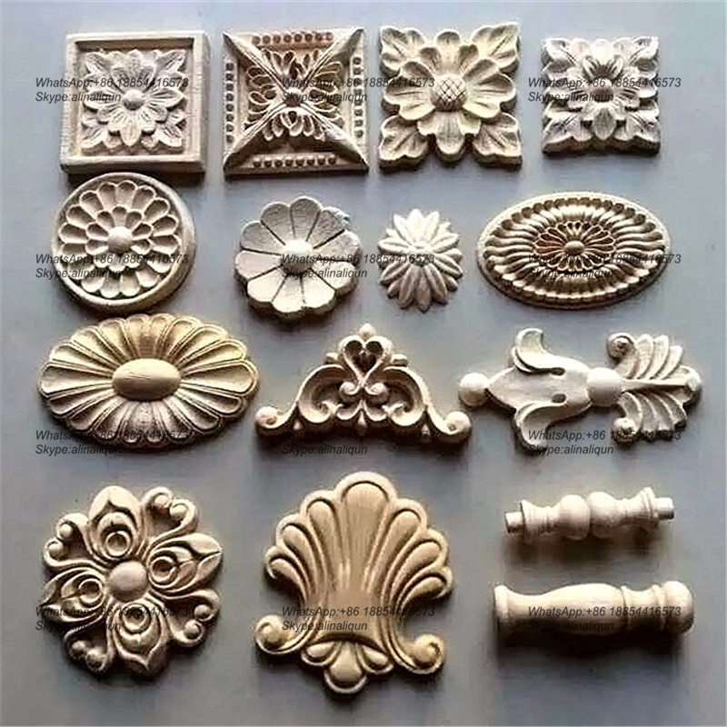 Decorative wood ornamental furniture mouldings appliques for Decorative wood onlays