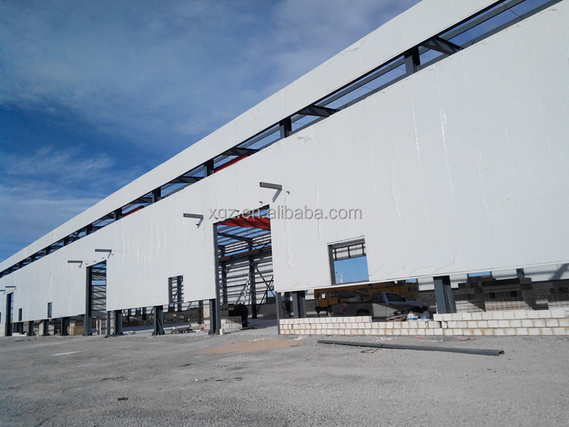 Ethiopia Large Pre Engineering Two-story Steel Structure Warehouse