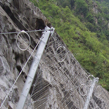 Factory direct slope protection netting rockfall barrier mesh wire rope netting