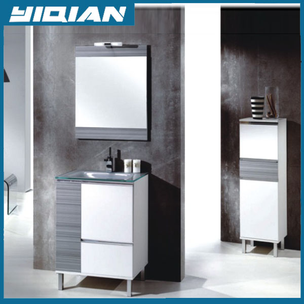 Modern Bathroom Grey Vanity Furniture Wall Hangzhou Melamine