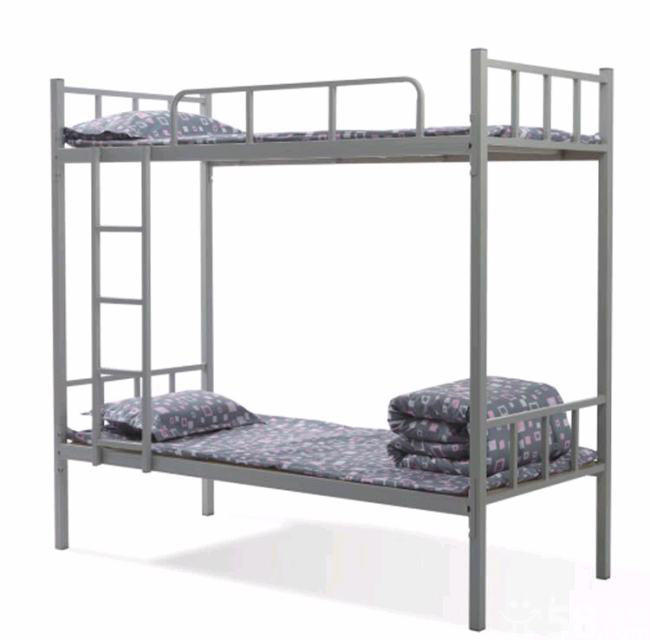 Adult living cheap simple design metal bunk bed for hostel for Cheap metal bunk beds
