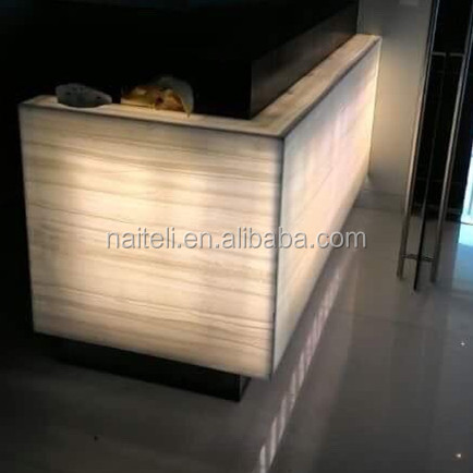 backlit onyx marble acrylic bar counter