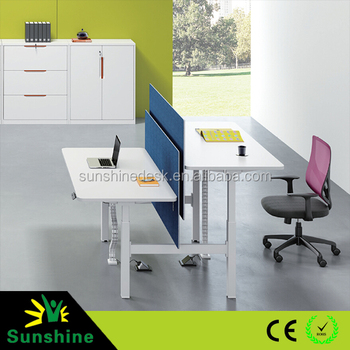 Electric Desk For Office Manual Height Adjule Metal Legs Commercial Furniture