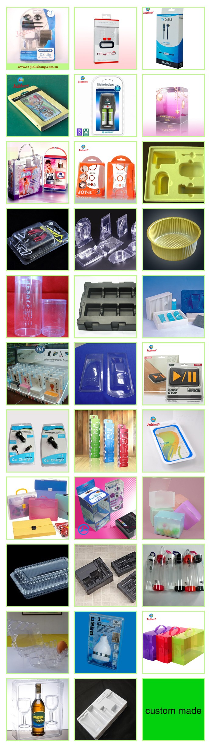 Soft Crease Auto Bottom Clear Plastic Box Plastic Packaging Box