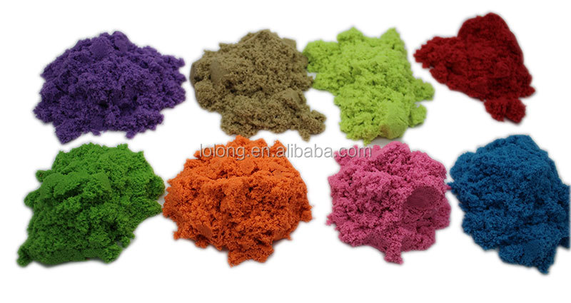 500g Colored Moving Soft Sand With 10 Pcs Tools Never Dries Out ...