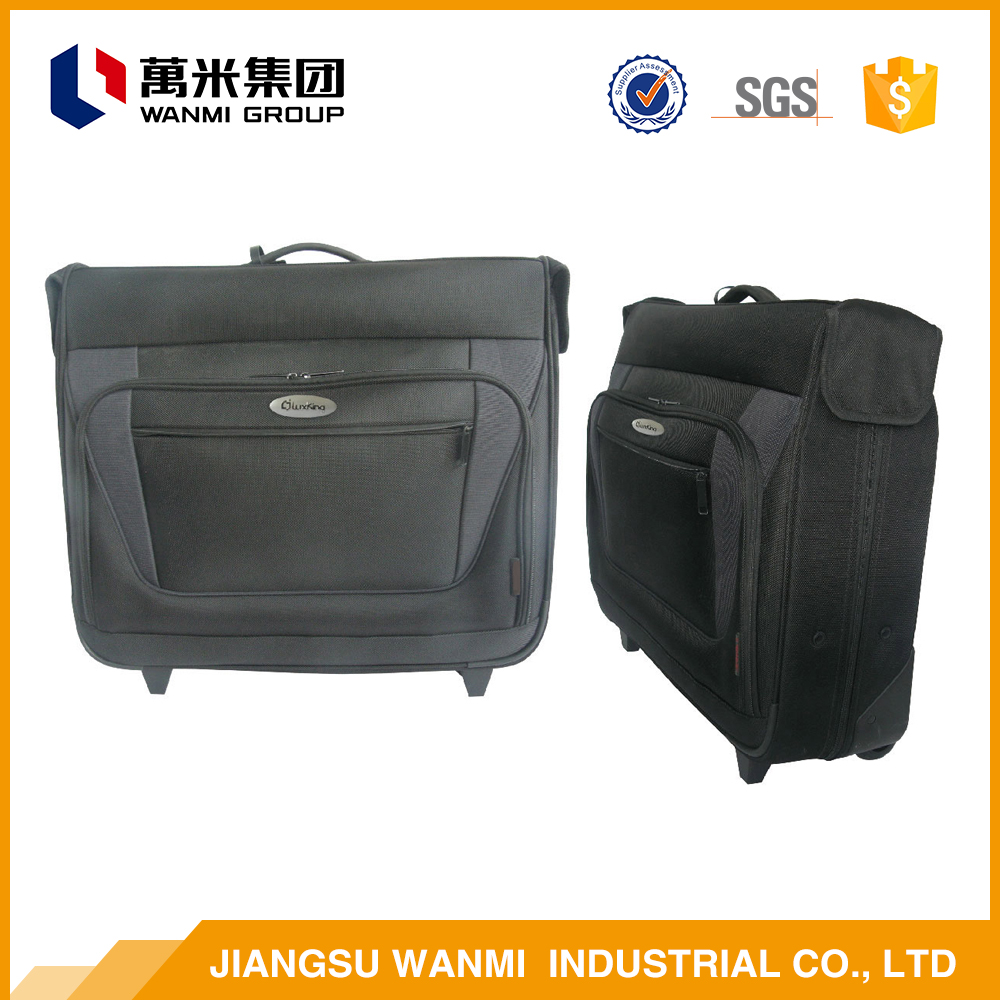 China factory polyester fabric single handle trolley luggage bag cover spandex
