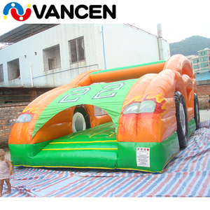 2017 China factory best quality air used commercial cheap PVC kids car shape blower supplied inflatable bouncers for sale