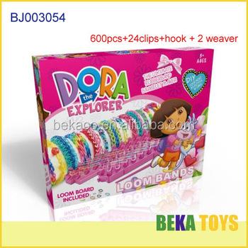 Lovely Dora Diy Rubber Loom Bands Box Make Friendship Crazy Loom