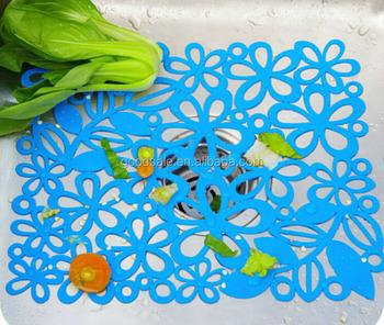 Schönen Blauen Mehrzweck Wassertank Drainkontakt Küche Pvc Dekorative Sink  Mat Für Küche Zimmer