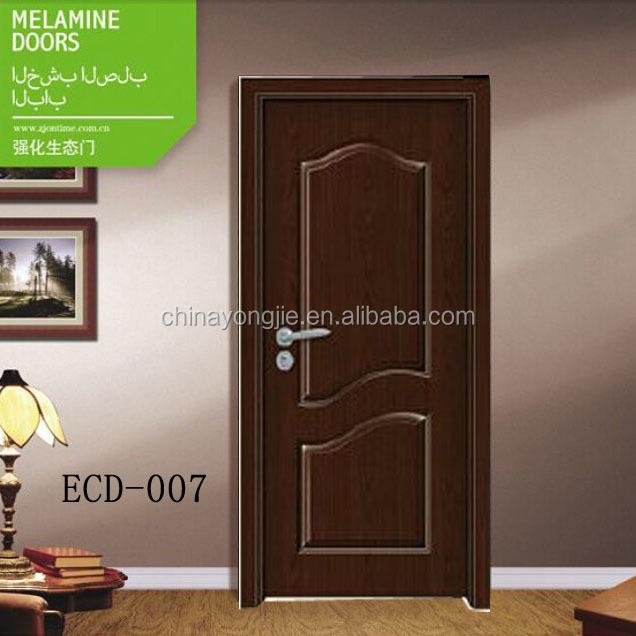 Puerta de melamina en la sala modernos dise os de puertas for Puertas de madera habitaciones