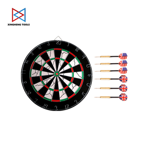 Double Sided Dart Boards 6 Darts 18 Inch Professional Dart Game Steel Tip Dartboard Target