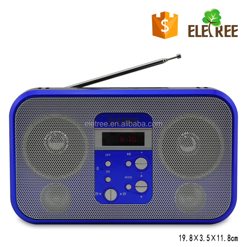 Rechargeable FM Pocket Radio MP3 Player With USB/SD/TF Card & Hifi Speaker EL-701