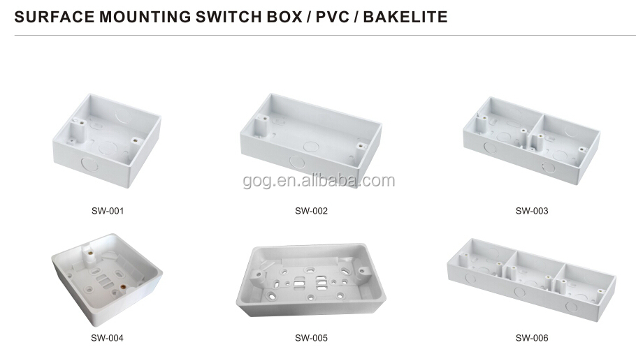surface mounting switch boxPVC and bakelite connection boxelectrical junction box  sc 1 st  Alibaba & Surface Mounting Switch BoxPvc And Bakelite Connection Box ... Aboutintivar.Com