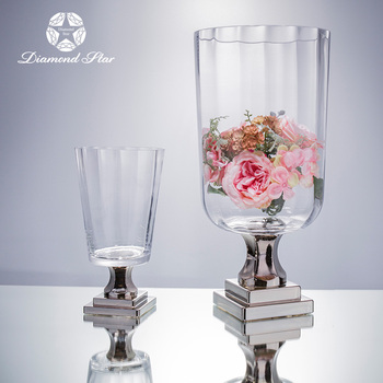 New Products High Quality Lead Free Cylindrical Tall Glass Vase