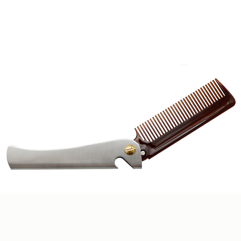 Amazon Stainless <strong>Steel</strong> <strong>hair</strong> styling <strong>comb</strong> <strong>hair</strong> tools for men Beard Folding <strong>comb</strong>