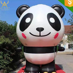 The most popular panda Inflatable Cartoon animal figure 6 shapes