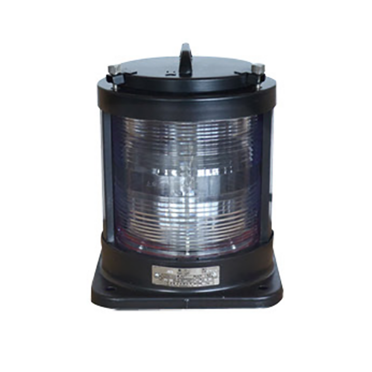 High quality machine grade single-deck marine navigation signal mast light With steel surface CXH3-1D