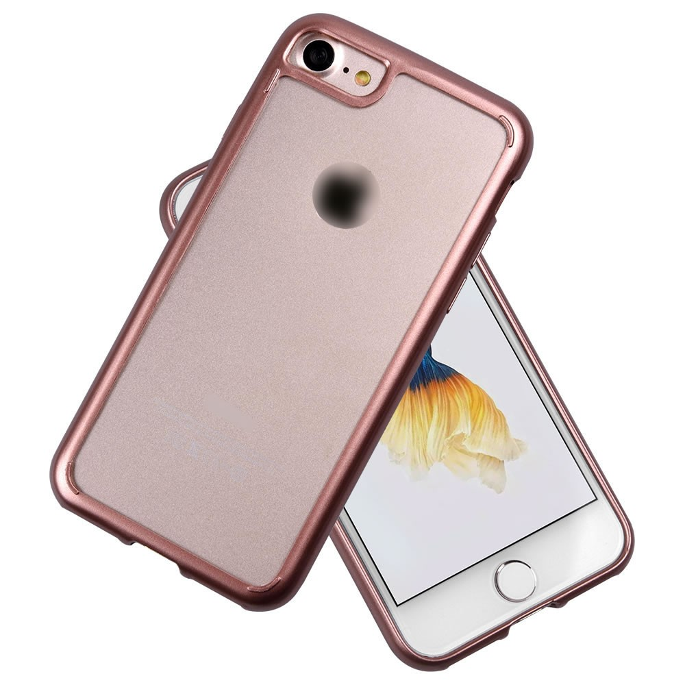 C&T Gold Stamp TPU Bumper + Hard PC Back Slim Cover Case for iPhone 7