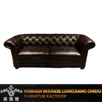 Vintage Retro Button Back Simple Wooden Sofa Set Design Leather Sofa A138 -  Buy Sofa Set Classic Wood Frame Leather Sofa Product on Alibaba.com