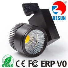 3600lm high lumen cob led 30w track light black,silver, white track housing