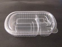 Transparent 2 compartment Lunch Box