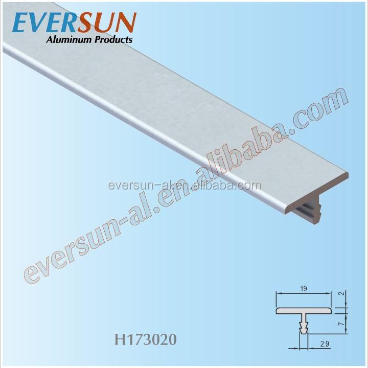 T Shape Aluminium Alloy Edge Sealing For Furniture Aluminum Kitchen Cabinet Banding Metal Table