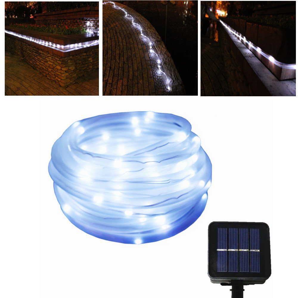Cheap solar light rope find solar light rope deals on line at get quotations julyfire white 50 led 165 foot solar powered rope string garden light for indoor mozeypictures Gallery
