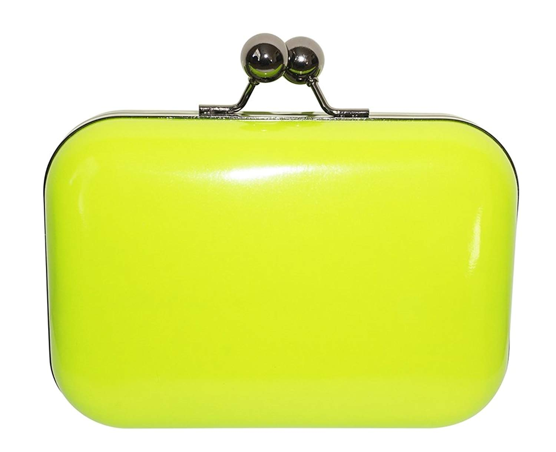 Chicastic Neon Colors Hard Case Minaure Mini Evening Tail Prom Clutch Purse
