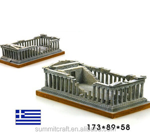 Acropolis famous building miniature resin greece souvenirs