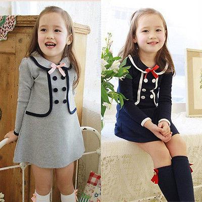 2016 Summer Baby Kids Girls Striped Bowknot Gown font b Fancy b font font b Dress