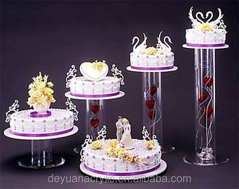 Hochzeit 5 Tier Etagere Mit Acrylrohre Zentrum Einfachen Stil