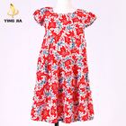 Baby Clothing Lotus leaf sleeve spring Woven girls one piece dress fancy dresses for girls