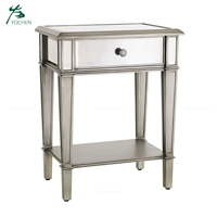 home mirror furniture bedside table mirrored night stand