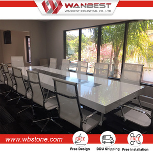 Shenzhen manufacturer modern office modular meeting room marble conference table