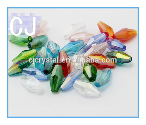 hollow long bicone glass beads angelic crystal beads