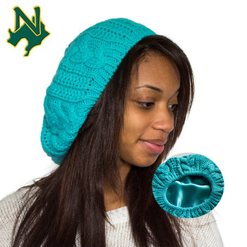 Baggy Green Satin Lined Beanie Hat Custom Women Acrylic Crochet Knitted  Designer Different Types Norway Winter 3fc3880136a