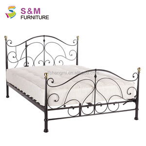 Best seller iron double bed design metal bed for bedroom furniture