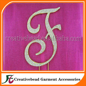 Alphabet gold letters cake toppers letter F for wedding cakes decoration 9d826f49ccb0